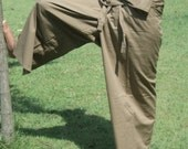 SALE Extra site fisherman pants earth tone