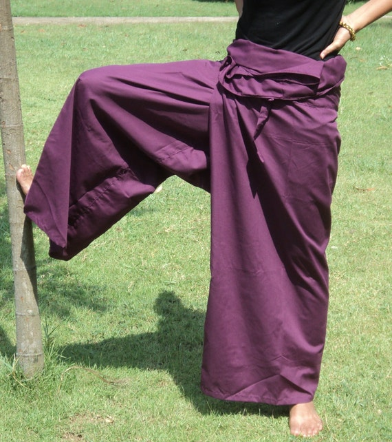 Purple  extra site fisherman pants