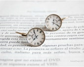 Romantic vintage clock earrings