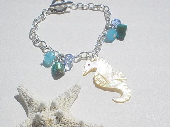 Troca Shell Seahorse Charm Bracelet