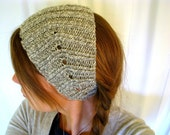 Knit Marble Grey & White Ear Warmer Headband