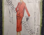 Sewing Pattern - Ladies Suit - 1950s Vintage