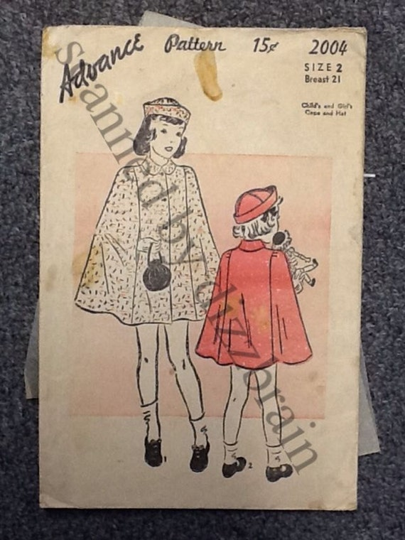 Vintage Sewing Pattern - 30s Cape Vintage Pattern