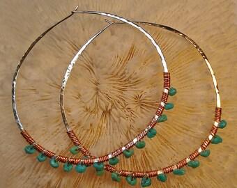 """Santa Fe Hoop earrings (1"""" in diameter)"""