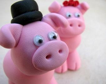 love piggies wedding cake topper