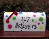 Professionally personalized white or black Mailbox