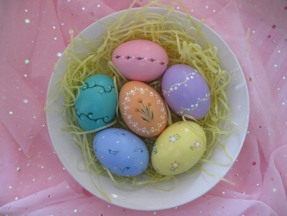 Hand-Painted Ceramic Easter Eggs (Set 26)