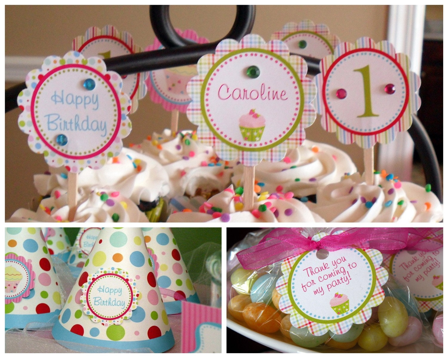 Cupcake Theme Essentials Birthday Party Package Girl DIY