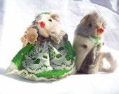 Vintage Fur Mouse St. Patrick's Day Couple