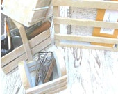 Desk Set - organize your office/desk space with this shabby chic, distressed set of 4