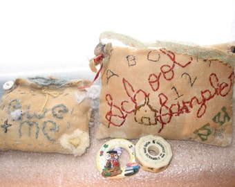 Ornaments, Gift for Teacher- OOAK  Inspirational and Natural Quotes,Choose Any Two Mini pillows or pin cushions, or wall decor