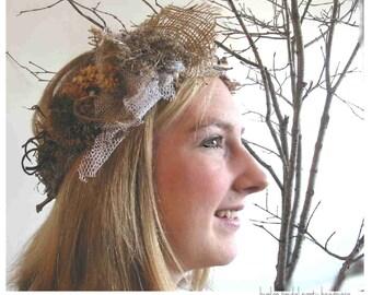 woodland wedding, farm wedding, head garland,  custom order, dog (ring bearer) collar, flower girl, bride's maids,  dried flowers, burlap,