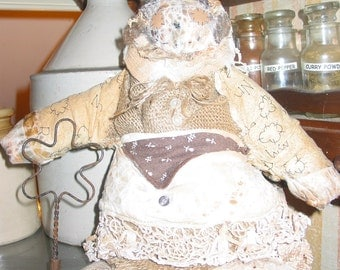 "Old Fashioned Primitive Doll ""Nellie"""