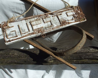 Custom signs, eg: Guests sign - Twig Spelt, see also custom order signs for Rustic Events, signs for weddings, anniversaries, reunions,
