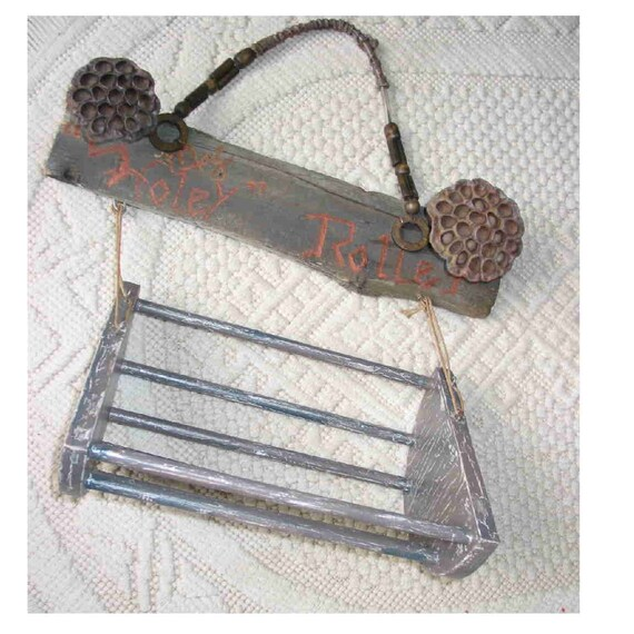 "Paper Towel, Toilet Paper Holder/Roller, rustic, ""my HOLEY ROLLER"" on barnwood, roller itself is crackled, shabby chic, great in cabin"