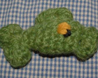 Crochet Fish // Little Green Fish Amigurumi // Fish Plushie