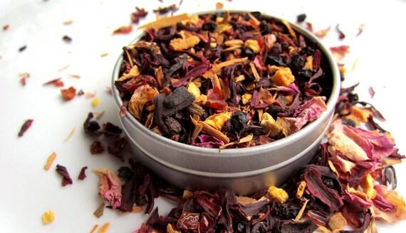 Organic Herbal Tea - with elder berries and rosehips - FestiviTea
