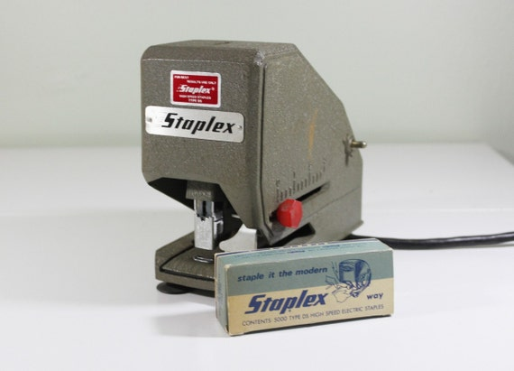 Vintage Industrial Electric Stapler by Staplex