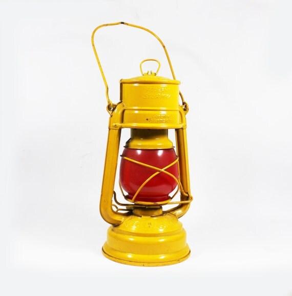 Vintage 1950s Yellow Kerosene Lantern