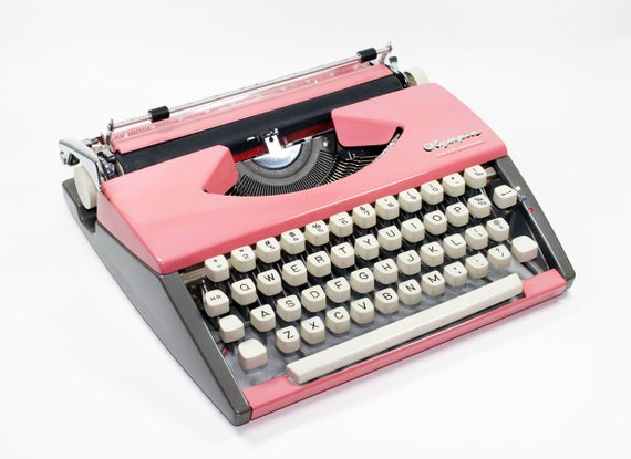 Pink Olympia SF De Luxe Typewriter