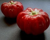 Ceramic Tomato Salt and Pepper Shakers