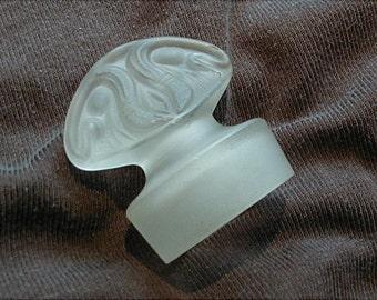 Satin Glass Jar Top Bath Salts or Vanity Bottle Stopper