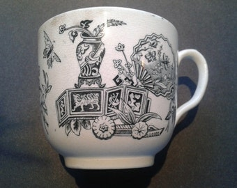 Mustache Cup 19th Century Transfer Printed