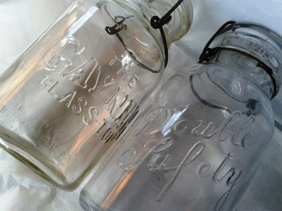 Gayner and Double Safety Canning Jars
