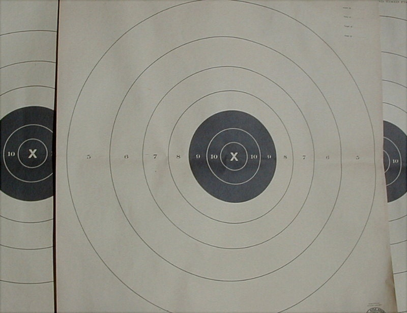 graphic relating to Nra B-8 Target Printable named 25 Yd Pistol Aims Printable