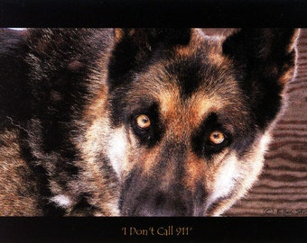 PHOTO NOTE CARD, German Shepherd, Dogs, 911, Dog Decor, German Shepherd Decor, Blank Note Card, Greeting Cards