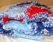 Free shipping////  Snowman holiday rag quilt