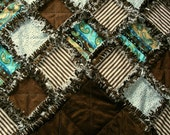 Custom made bed sized rag quilt, PICK YOUR FABRICS