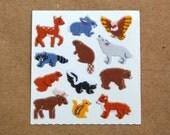 Sandylion Woodland Animals Fuzzy Stickers