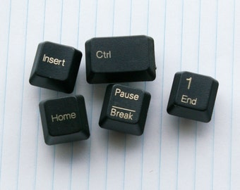 5 Dark Gray Keyboard Keys