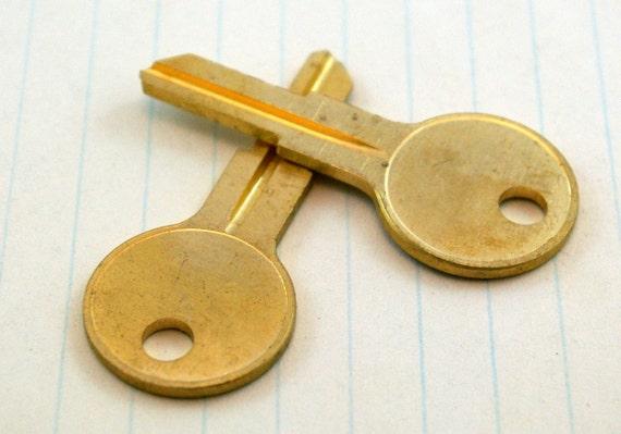 Uncut Matte Brass Keys