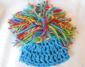 Oddball Baby Beanine - Birthday Collection 3-  Pompom Photography Prop hat  - 14 inch Circumference and Ready2Ship