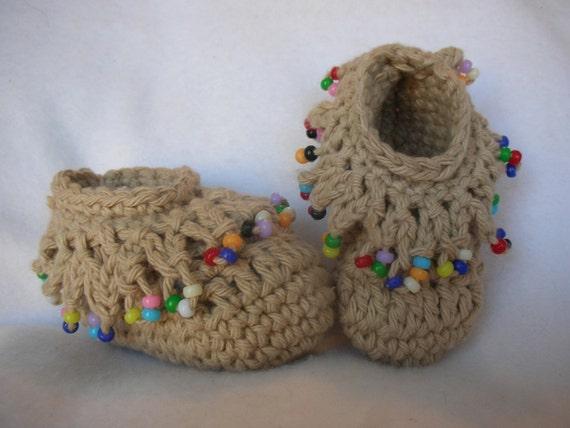Schoenstrickende Babyschuhe Mokassins Häkeln