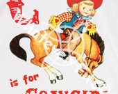 C is for Cowgirl Horse Tshirt, Onesie or Tank Top