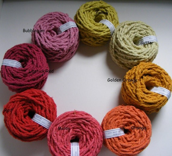 Hand Dyed Cotton Rug Yarn Lot Of 20 Your Choice Of Colors