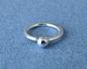Cartilage Hoop, Tiny Lobe Earring, Fine Silver 20 gauge, 6mm ID, 1 single hoop - Made in USA