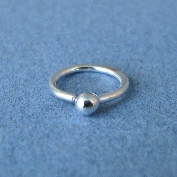 cartilage hoop earrings 20g silver handmade artisan