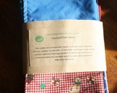 cloth napkins, set of 6, repurposed, upcycled one of a kind