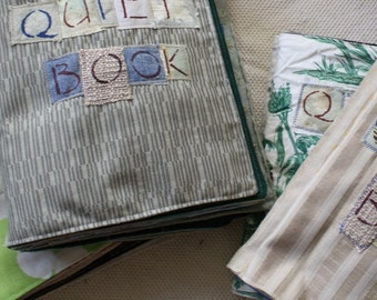 Quiet Book, Children's activity book, Busy book- OOAK, Eco Friendly, Upcycled, Educational - Made to Order - 14 pages
