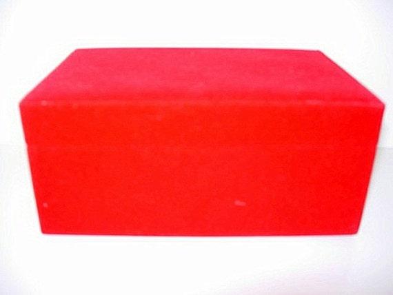 Red velvet jewelry gift trinket box for Red velvet jewelry gift boxes