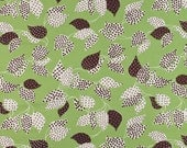 "last one - SHOP CLOSING SALE - Denyse Schmidt, Flea Market Fancy - Legacy Collection, Leaf and Dot in Green  - 15"" x wof"