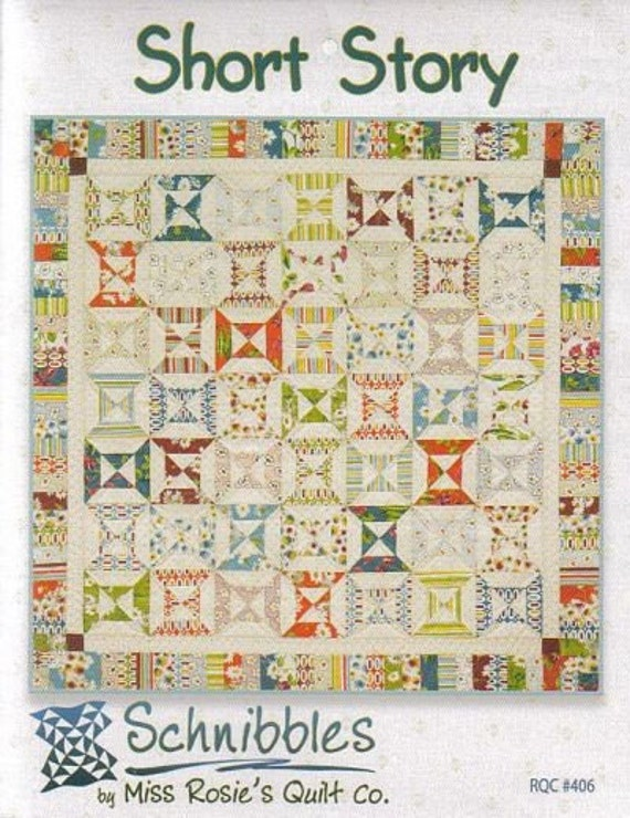 STORE CLOSING SALE - Short Story Schnibbles Charm Pack Quilt - Free us Shipping with another purchase