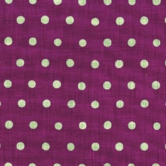 "last one - SHOP CLOSING SALE - Etsuko Furuya, Echino, Dot in Purple and Aqua - 10"" x wof"