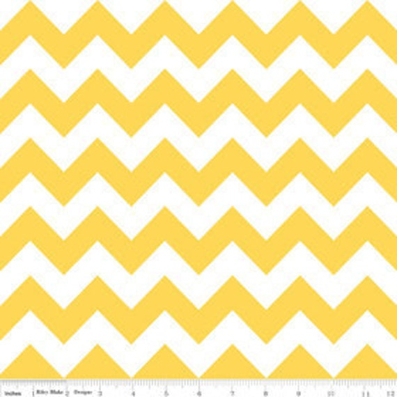 "Last One - Riley Blake, Chevron Stripe in Yellow - 17"" x wof"