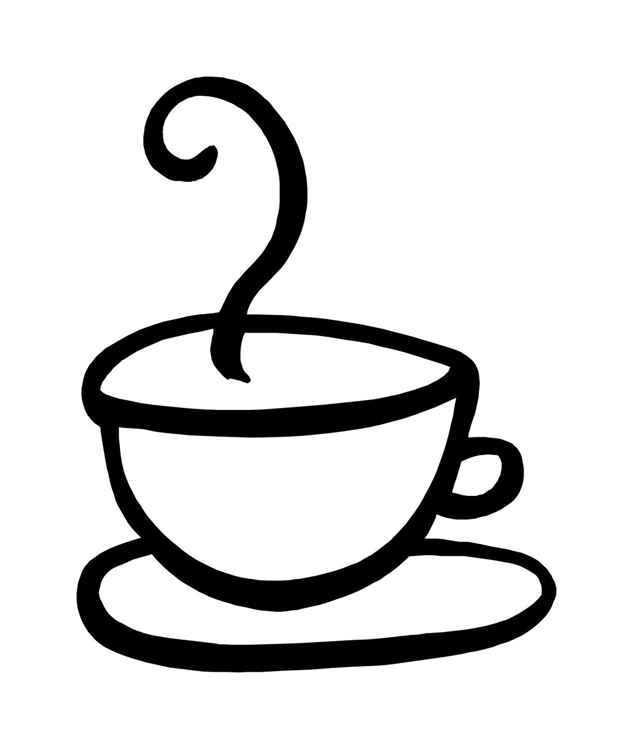Coffee Cup and Saucer Decal