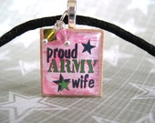 Proud Army Wife - necklace